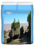 The Rocks At Hopewell Cape Duvet Cover