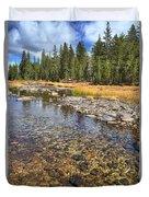 The Rocks Of Rock Creek Duvet Cover