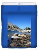 The Rocks Of Treasure Lake Duvet Cover