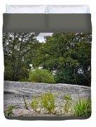 The Rocky Limestone Climb Duvet Cover