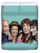 The Rolling Tongues Duvet Cover