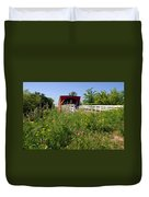 The Roseman Bridge In Madison County Iowa Duvet Cover