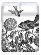 The Roses And The Sparrow Duvet Cover