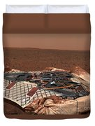 The Rovers Landing Site, The Columbia Duvet Cover by Stocktrek Images