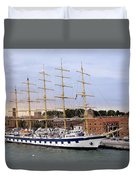 The Royal Clipper Docked In Venice Italy Duvet Cover