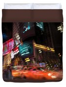 The Running Of The Taxis Duvet Cover