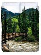The Rushing Animas River - Colorado Duvet Cover