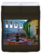 The Sacred Garden Of Mission San Juan Capistrano California Duvet Cover