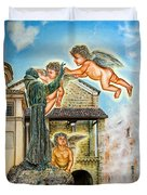 The Saint And The Angels Duvet Cover