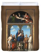 The Saint Anne Altarpiece From San Frediano Lucca Duvet Cover