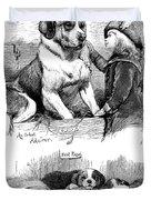 The Saint Bernard Club Dog Show Duvet Cover