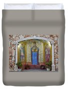 The Saints Are Waiting By The Parking Place Duvet Cover