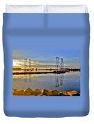 The Saugus River At Dawn Duvet Cover