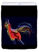 The Scared Rooster Duvet Cover