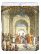 The School Of Athens, Raphael Duvet Cover