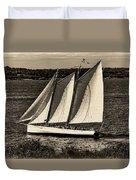 The Schooner Adirondack II Antiqued Duvet Cover