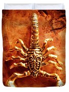 The Scorpion Scarab Duvet Cover