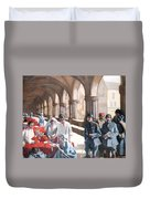 The Scottish Women's Hospital - In The Cloister Of The Abbaye At Royaumont. Duvet Cover
