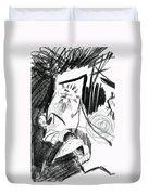 The Scream - Picasso Study Duvet Cover