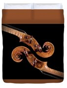 The Scroll And It's Clone Duvet Cover