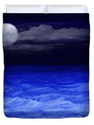The Sea At Night Duvet Cover