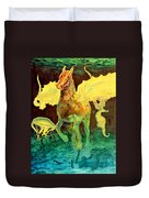 The Seahorse Duvet Cover by Henryk Gorecki