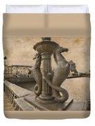 The Seahorses 3 Sepia Duvet Cover