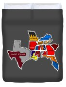 The Sec South Eastern Conference Teams Duvet Cover