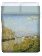 The Seine At Argenteuil Duvet Cover by Claude Monet