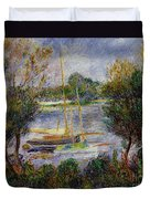 The Seine At Argenteuil Duvet Cover by Pierre Auguste Renoir