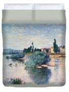 The Seine At Lavacourt Duvet Cover by Claude Monet