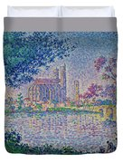 The Seine At Mantes, By Paul Signac, 1899-1900, Kroller-muller M Duvet Cover