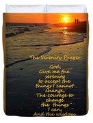 The Serenity Prayer Duvet Cover