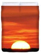 The Setting Sun Duvet Cover