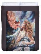 The Seven Spirits Series - The Spirit Of Might Duvet Cover