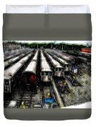 The Seven Train Yard Queens Ny Duvet Cover