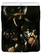 The Seven Works Of Mercy Duvet Cover