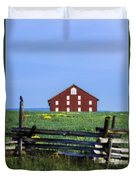 The Sherfy Farm At Gettysburg Duvet Cover