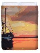 The Shrimp Boat Duvet Cover