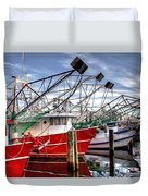 The Shrimpers Salute Duvet Cover