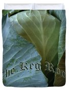 The Shy Cabbage The Keg Room Old English Hunter Green Duvet Cover