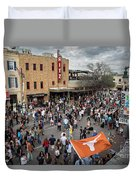 The Sights And Sounds Of Sxsw Are Enormous From 6th Street As Thousands Of Revelers Fill The Streets Duvet Cover