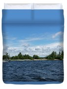 The Silver Bullet - Little Silver Boat Speeding Along Duvet Cover