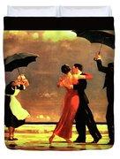 The Singing Butler Duvet Cover