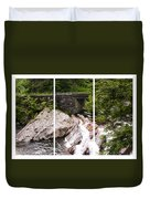 The Sinks Smoky Mountains Triptych Duvet Cover