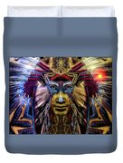 The Sioux Spirit - The Plumed Lion Duvet Cover