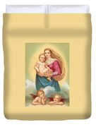 The Sistine Madonna Duvet Cover