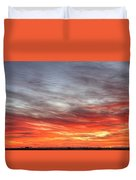 The Sky Is Smoking Hot In Widescape Duvet Cover