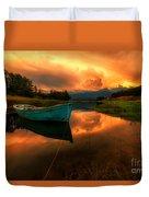 The Sky's On Fire Duvet Cover