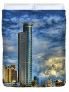 The Skyscraper And Low Clouds Dance Duvet Cover